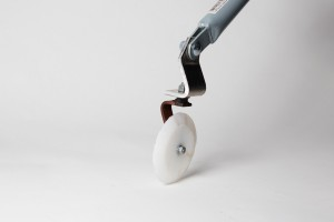 Pizza-Cutter concrete finishing tool