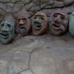 concrete faces by artist and concrete finisher John Czegledi