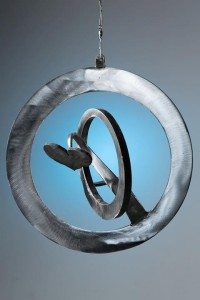 stainless metal art circles by artist, designer and inventor John Czegledi